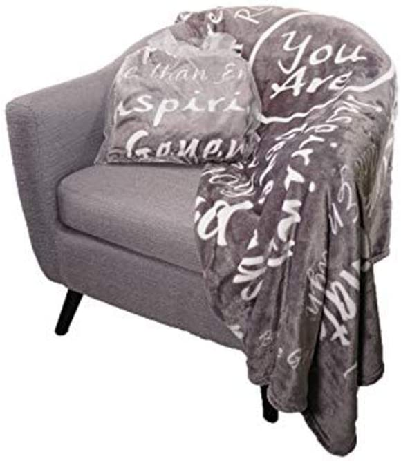 BlankieGram You are Awesome Throw Blanket to Express Gratitude and Admiration (Grey)