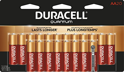 Duracell - Quantum AA Alkaline Batteries - long lasting, all-purpose Double A battery for household and business - 20 count - Aa Duracell