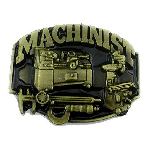 Machinist Belt Buckle American Workers Mechanic (MACH-01-G)