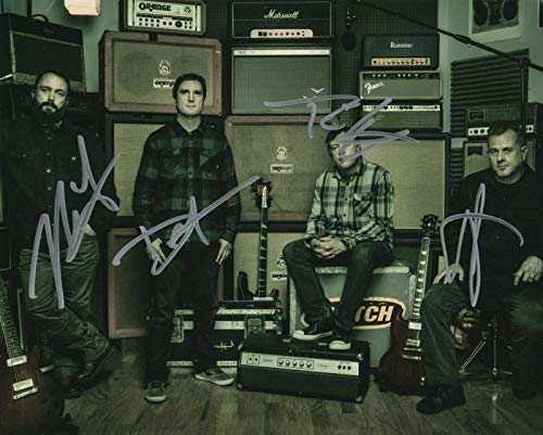 Clutch band REAL hand SIGNED Photo #2 COA Autographed by all 4