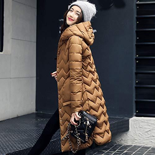 3xl S Solid Cappotti Inverno Fit Coffee Size Giacche Donna 6 Capispalla Capispalla Moda ~ Piumino For Plus Corti Da Women Coat Burfly Piumini Slim Caldo Casual IxwZqg18