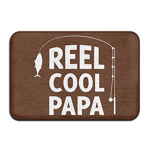 Reel Cool Papa Fishing Antiskid Outings Carpet Kitchen Mat