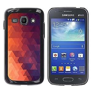 // PHONE CASE GIFT // Duro Estuche protector PC Cáscara Plástico Carcasa Funda Hard Protective Case for Samsung Galaxy Ace 3 / Geometría Red Triangle /