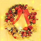 50/60/80 cm Christmas wreath Christmas creative ornaments Christmas shopping shop window decoration (60)