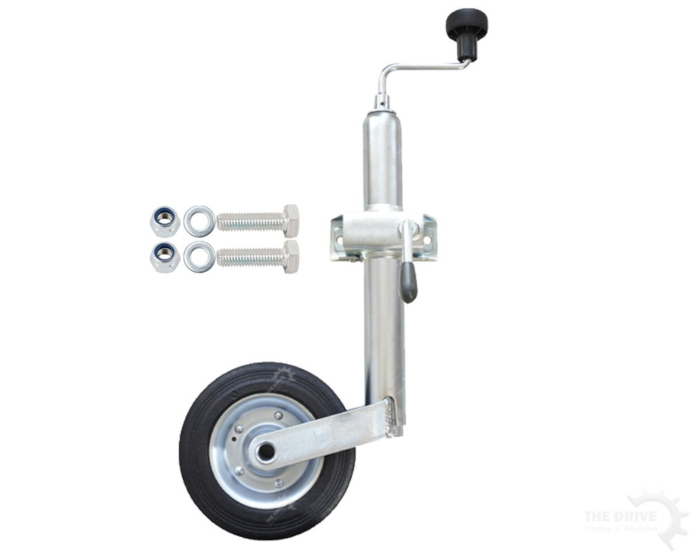 The drive Rueda jockey 150kg 48mm de diámetro con soporte de sujeción con tornillos de fijación 17899