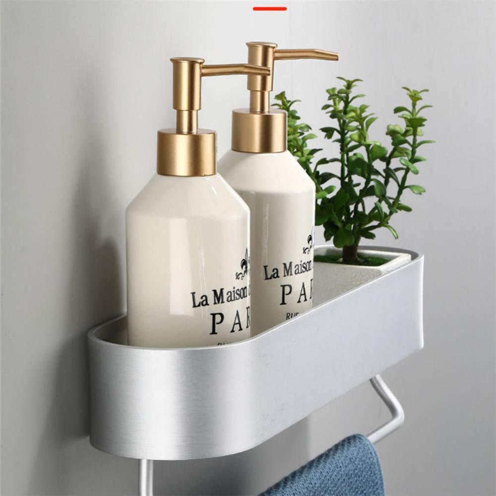 Aluminium noir /étag/ère de salle de bains coin cuisine /étag/ère de douche porte-serviettes pendentif de salle de bain 30-50 cm 50cm noir avec barre
