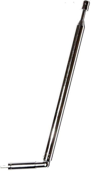 Antena telescópica FM Am Extensible 90 cm Cerrada 16 cm para ...