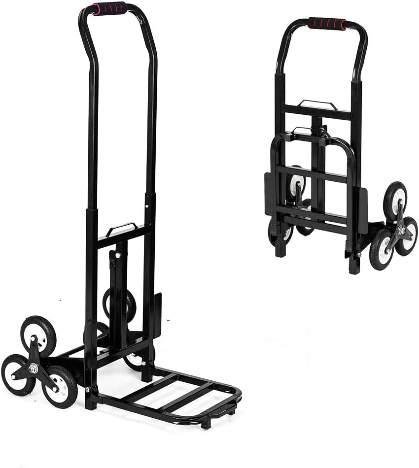 Stair Climbing Cart Portable Folding Trolley 330lbs Stair Climber Hand Truck