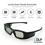 3D Active Shutter Rechargeable Ultra-Clear HD 144 Hz 3D glasses for ALL DLP Link Projectors