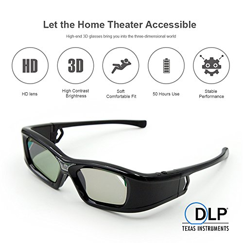 3D Active Shutter Rechargeable Ultra-Clear HD 144 Hz 3D glas