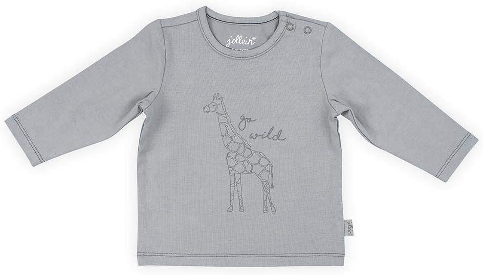 Jollein Camisa de manga larga, talla 74/80, gris safari: Amazon.es: Bebé