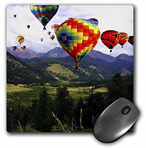 (3dRose Edmond Hogge Jr Countrys - Balloon Ride in the Rockies - MousePad (mp_43274_1))