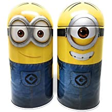 Despicable Me Minions Dave and Stuart Steel Coin Banks (Total of 2 Banks)