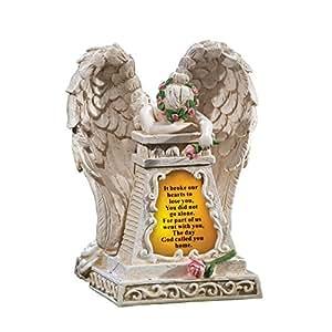 Solar Lighted Weeping Angel Garden Memorial