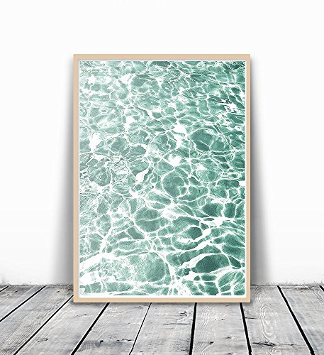 Ocean Print, Wall Print, Art Print, Ocean Wave Print, Water Print, Wave Printable, Water Photography, Ocean Wall Art, Water Wall Art, Ocean Photography, Ocean Wave, Summer Print, Green Wall Art, 8x10