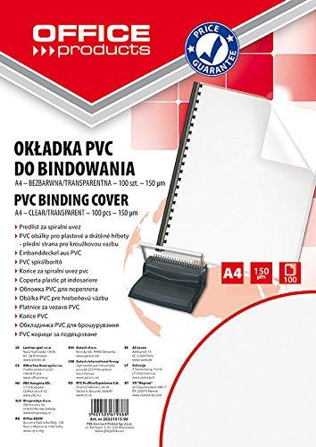 Okladki do bindowania Office Products PVC A4 transparentny