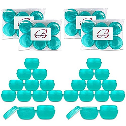 (Beauticom 10G/10ML Frosted Container Jars with Inner Liner for Scrubs, Oils, Salves, Creams, Lotions, Makeup Cosmetics, Nail Accessories, Beauty Aids - BPA Free (24 Pieces,)