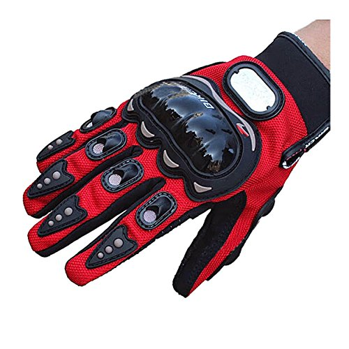 Evaliana Men's Motocross Cycling Motorcycle Motorbike Riding Racing Gloves Full Finger  Red  Medium