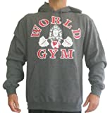 W850 World Gym Hoodie (L, Charcoal)