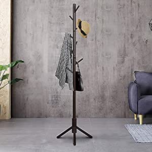 Amazon.com: TinyTimes Perchero de madera para ropa ...