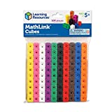 Learning Resources MathLink Cubes, Back to School Activities, Homeschool, Classroom Games for Teachers, Educational Counting Toy, Math Cubes, Linking Cubes, Early Math Skills, Math Manipulatives, Set of 100 Cubes, STEM toys, Ages 5+