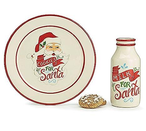 Burton And Burton Milk And Cookies For Santa Gift Set Ceramic