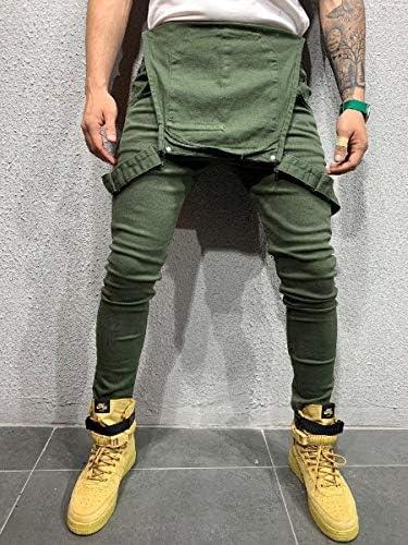 Beeatree メンズカモオーバーオール調整可能なビブパンツスリムフィットジャンプスーツジーンズパンツ