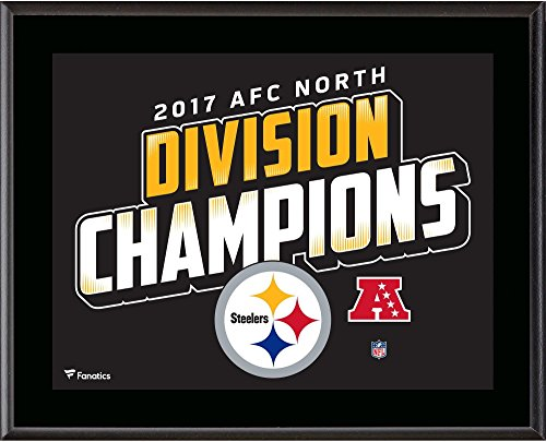 "Pittsburgh Steelers 10.5"" x 13"" 2017 AFC North Champions Sublimated Plaque - NFL Team Plaques and Collages"