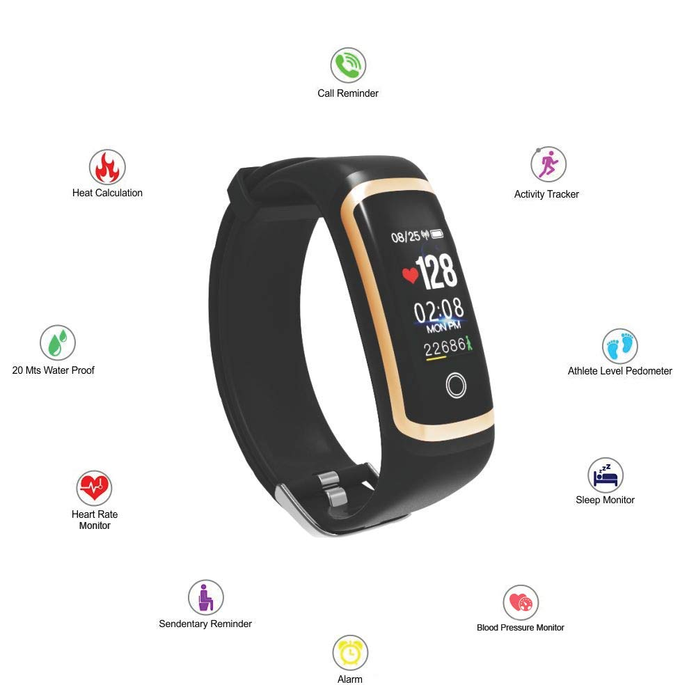 Hospitable Smart Watch Men Women Fitness Tracker Smart Bracelet Real-time Blood Pressure Heart Rate Monitor Activity Tracker For Sport Ios Big Clearance Sale Men's Watches Digital Watches