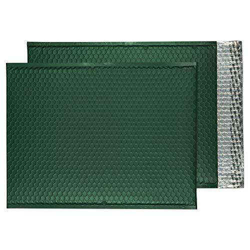 Blake Matte Padded Bubble Mailer Envelopes, 12 3/4' x 17 3/4', Alpine green , Peel & Seal (MTBRG450-76) - Pack of 50