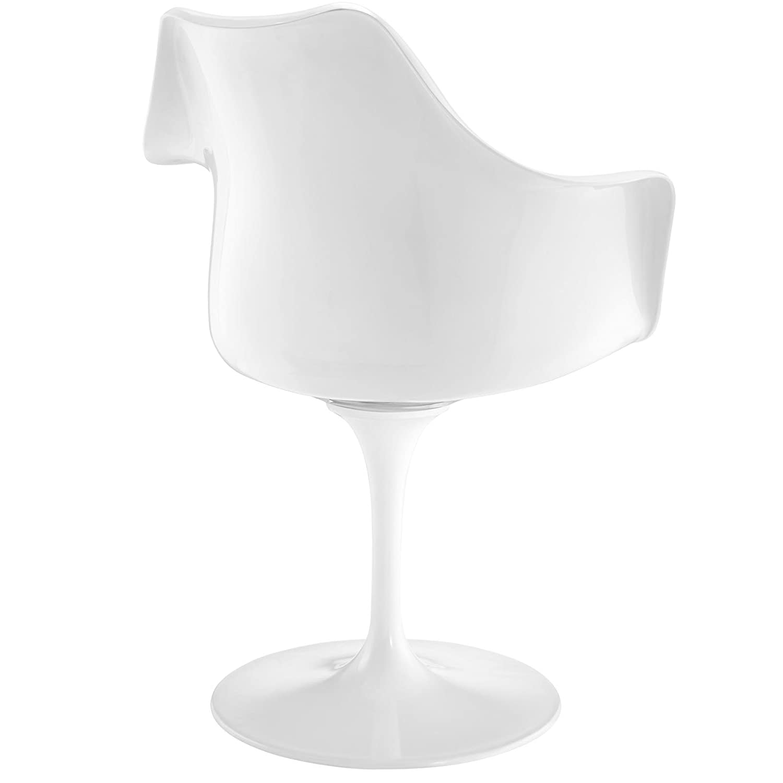 Amazon Modway Lippa Dining Fabric Armchair White Chairs