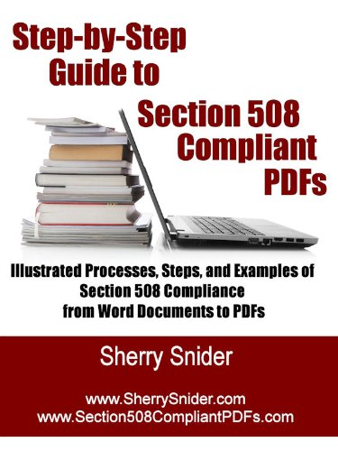 Step By Step Guide to Section 508 Compliant PDFs: Illustrated Processes, Steps, and Examples of Section 508 Compliance from Word Documents to PDFs (English Edition)
