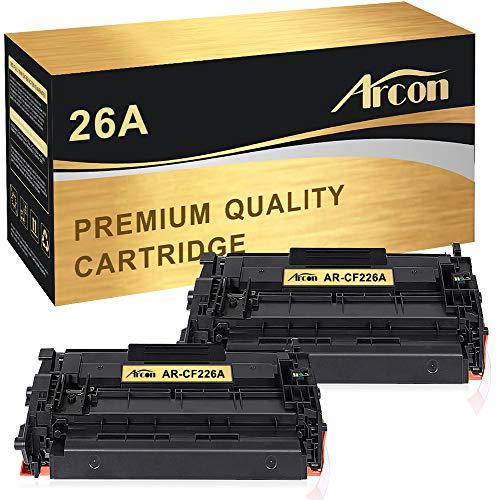 Arcon Compatible Toner Cartridge Replacement for HP 26A CF226A M402n MFP M426fdw HP Laserjet Pro M402n M402dn M402dw M402d HP Laserjet Pro MFP M426fdw M426fdn M426dw HP 26A CF226A 26X CF226X Printer