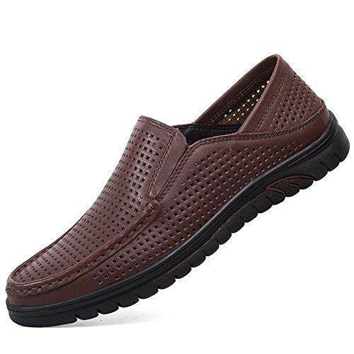 Zapatos del Huecos los Hombres Negocio Huecos Ocasionales del Verano los Zapatos del de Marrón de Verano EYxfBwqq