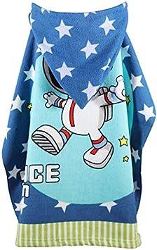 Astronauta APIKA Telo Mare Bambini con Cappuccio Asciugamano da Bagno in Microfibra Nuoto per Bambini Accappatoio con Cappuccio Asciugamano per Poncho Carino