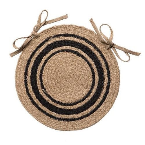 IHF Home Decor Bristol Jute Braided Chair Cover Round Rug 15 Inch