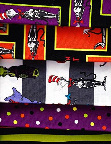 5 Yards Spooktacular Dr. Seuss 100% Cotton Quilt Halloween Fabric Robert Kaufman -