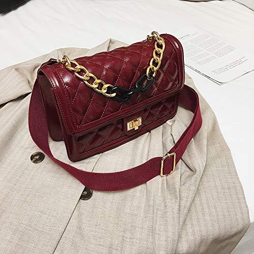 Épaule Xmy Grand Sauvage Carré Femme Bandoulière Mode Besace Rouge Sac Large OxU4wxS0