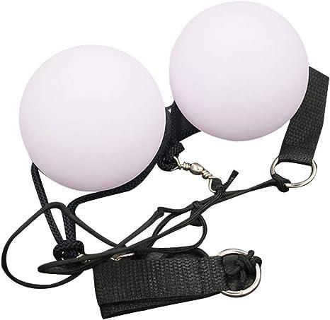 LIOOBO 2Pcs LED Malabarismo Bolas Spinning LED Light Toy para ...