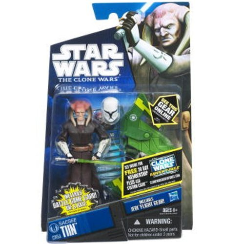 (Star Wars 2011 Clone Wars Animated Action Figure CW No. 54 Saesee Tiin)