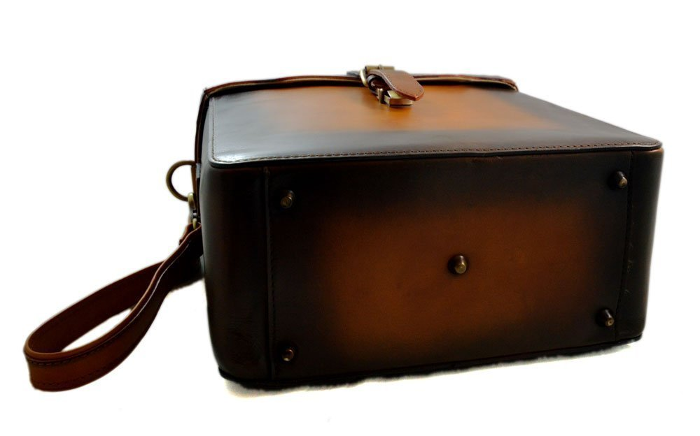 7f2199912397 Amazon.com  Rigid leather bag camera leather satchel crossbody leather  shoulder bag rigid bottle bag brown vintage leather bag leather messenger   Handmade