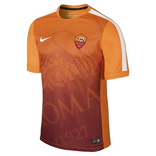 2014-2015 AS Roma Nike Pre-Match Training Jersey (Orange)