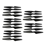 sea jump 20PCS Propeller for Hubsan H501S H501C H501M MJX Bugs 3 PRO B3 PRO HS700 HS700D Brushless Aircraft Blade Spare Parts Drone Propeller Black