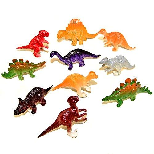 10 Assorted Mini Plastic Dinosaur Toys Blue Frog Toys
