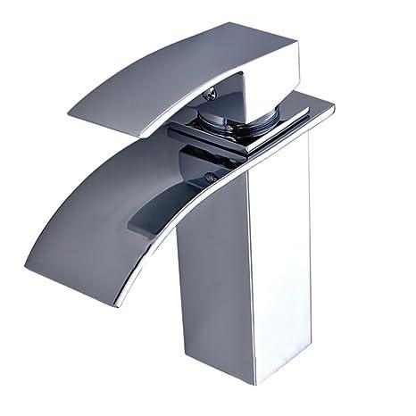 SAILUN Wasserfall Armatur Wasserhahn Mischbatterie Waschbeckenarmatur für Bad Waschtischarmatur Badarmatur Badezimmer Küchen