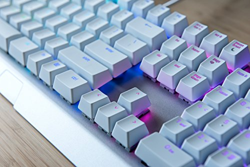 Razer BlackWidow X Chroma: Esports Gaming Keyboard - Military Grade Metal Construction - Durable up to 80 Million Keystrokes - Razer Green Mechanical Switches (Tactile and Clicky) - Mercury