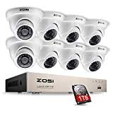 ZOSI 8Channel 960H Security Surveillance System with 8 High-Resolution 960H/900TVL Cameras and 1