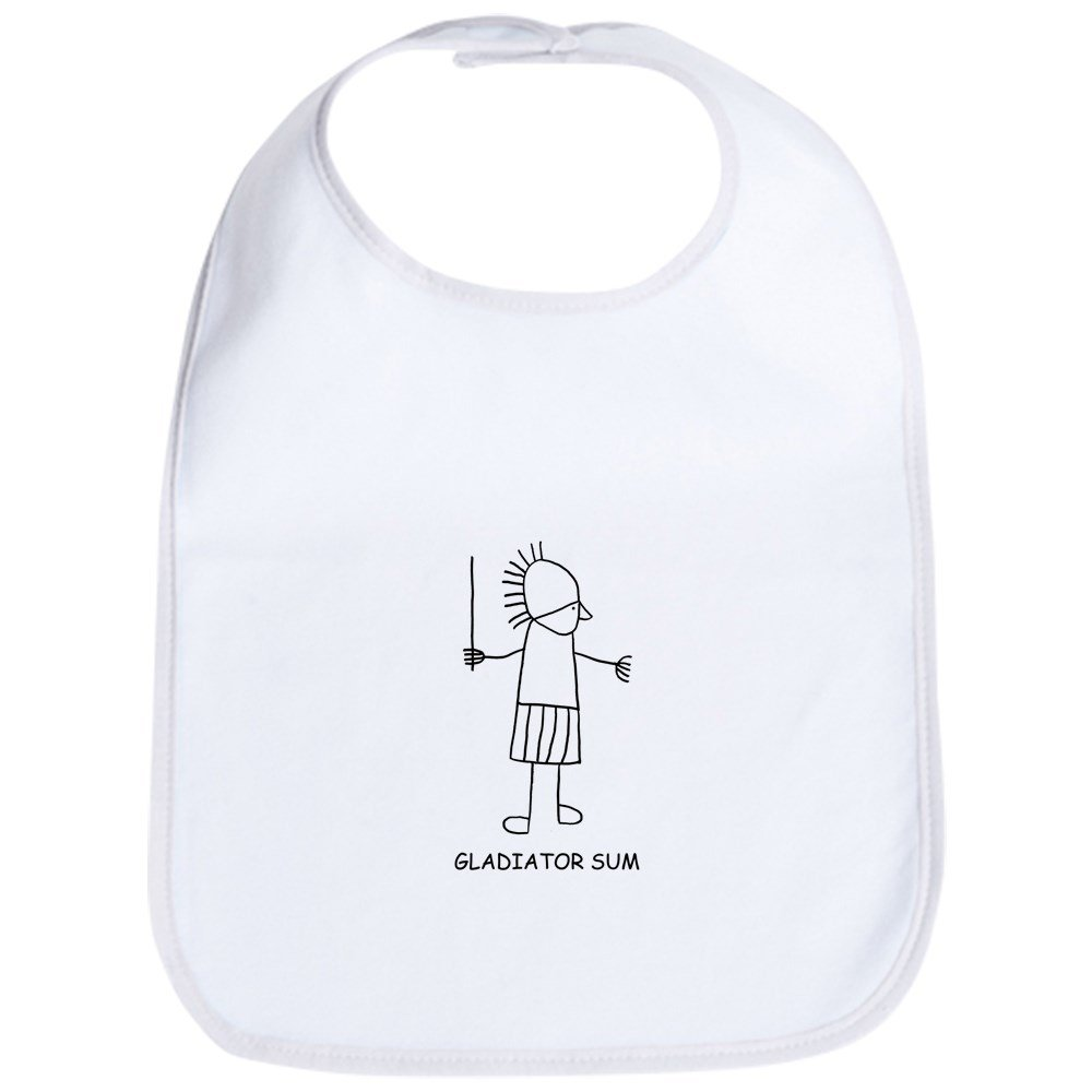 b595b68339cd Amazon.com  CafePress - Gladiator Sum - Cute Cloth Baby Bib