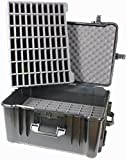 Williams Sound CCS 048 Large Heavy-duty Carry Case (140 slot); Fits with all Williams Sound body-pack transmitters and receivers; Has a lower foam insert with 70 slots, and a 70-slot top insert providing 140 total slots