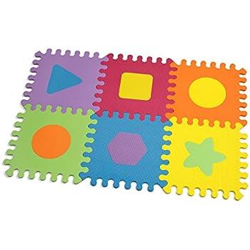 Amazon Com Infantino Topsy Turvy Soft Foam Puzzle Mat Baby